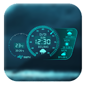 Free Dash Clock&Neon Weather Widget APK for Windows 8