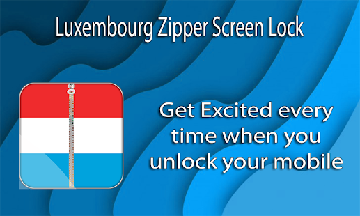 Luxembourg Zipper ScreenLock - screenshot