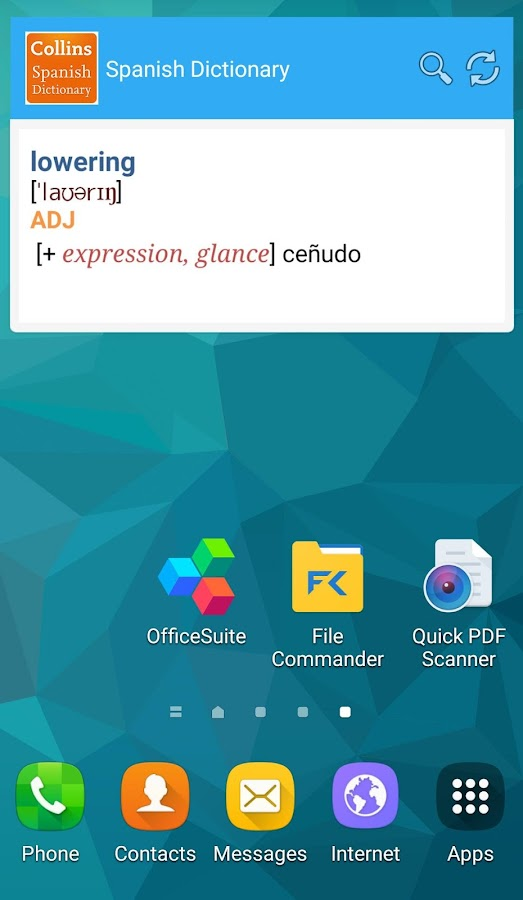 Collins Spanish Complete Dictionary Screenshot 7