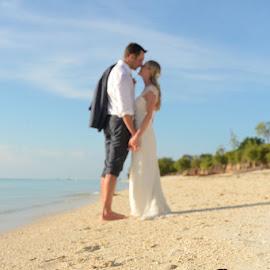 Shoes 2 by Andrew Morgan - Wedding Bride & Groom ( love, shoes, kiss, zanzibar, wedding, beach )