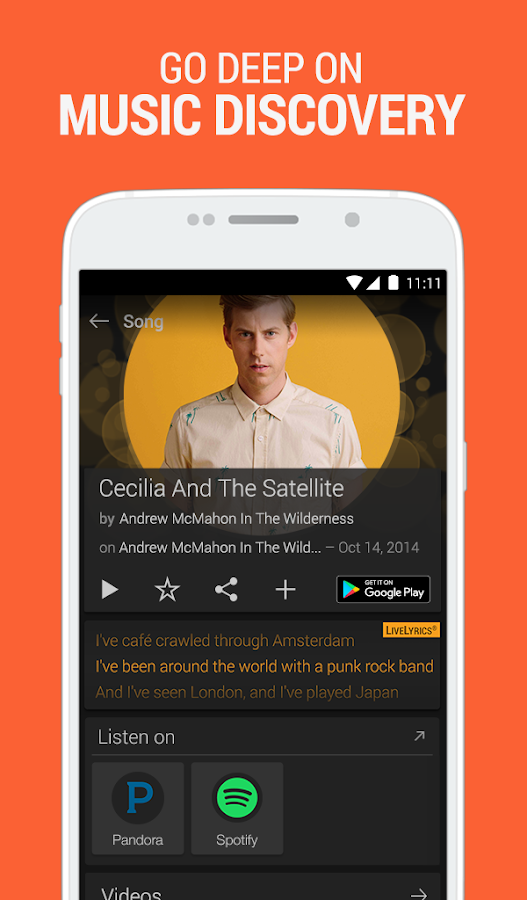 SoundHound ∞ Music Search Screenshot 3