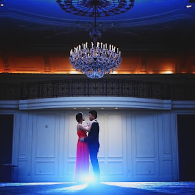 First Dance by Henry Kurniawan - Wedding Old - Engagement ( glamour, backlight, elegant, wedding, art, lounge, couple, philadelphia, light, people, dance, engagement )