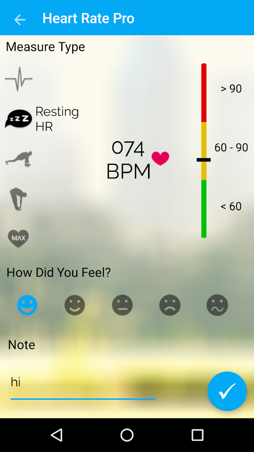 Heart Rate Monitor Pro Screenshot 1