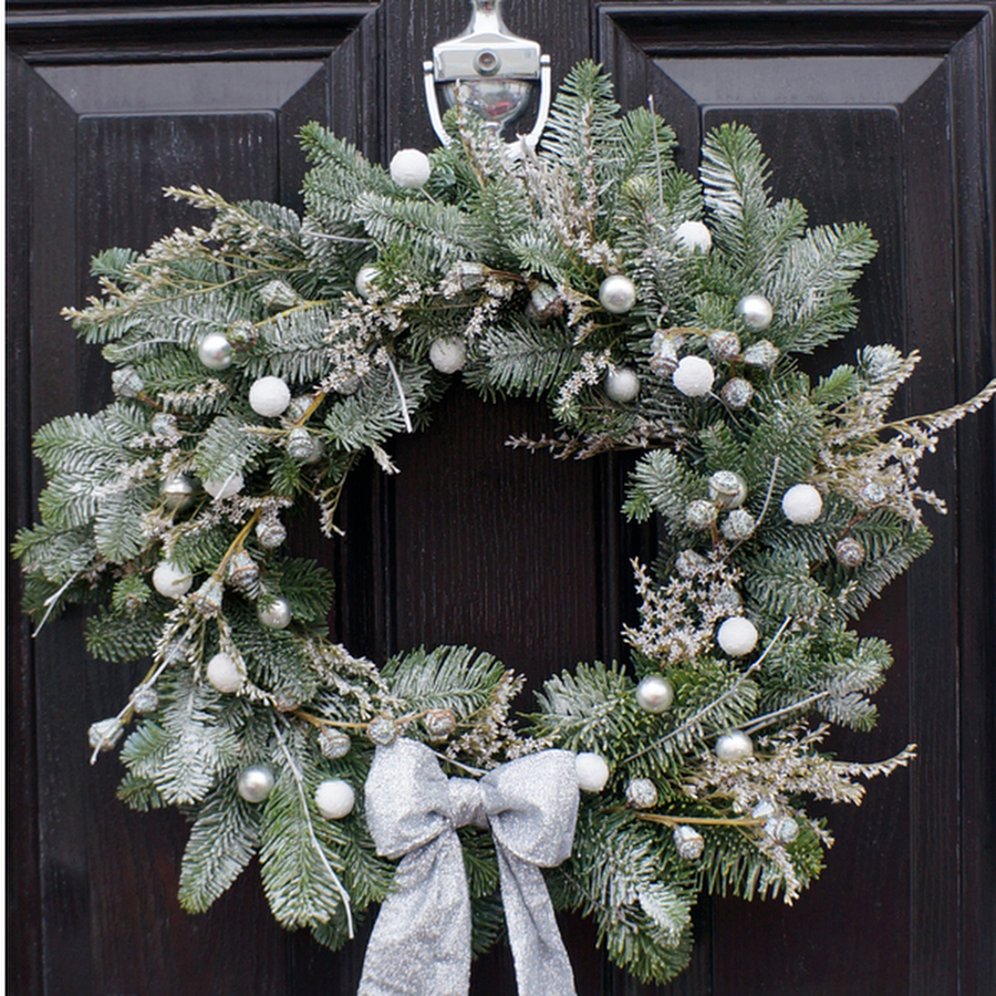 Frosted Wreath - The Florist Tunbridge Wells