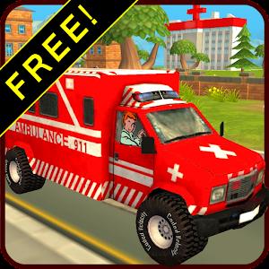 Cover art Ambulance Race Rescue Sim 911