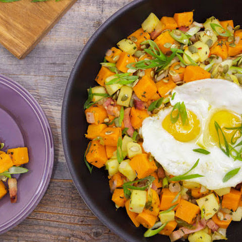 Anne Burrell's Sweet Potato and Apple Hash