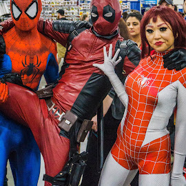 Our heros by Laurie Crosson - People Street & Candids ( cosplay, spiderman, comic con, costume, motor city comic con 2017, superhero )
