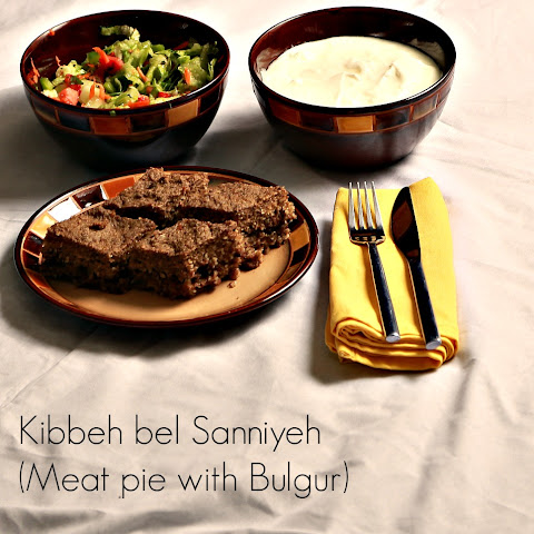 Kibbeh bel Sannieyh (Meat pie with Bulgur)