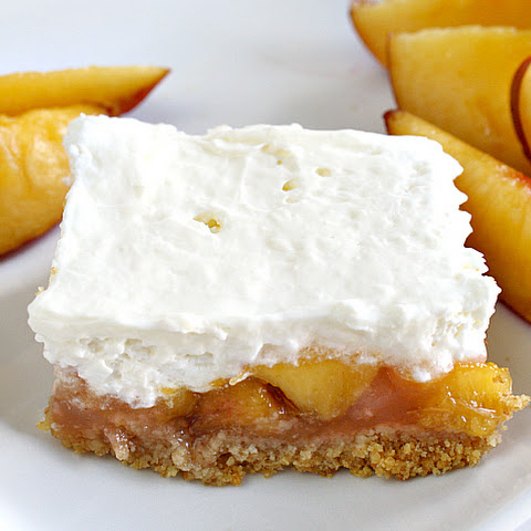 No-Bake Peaches & Cream Bars
