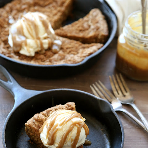 Brown Butter Skillet Cookie with Butterscotch Sauce