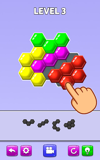 Color Match Puzzle - Fill the Hexa Board For PC