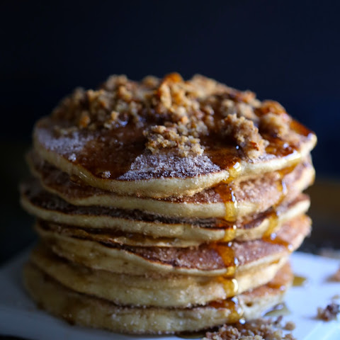 Easy Churro Pancakes with Sweet Potato Chip Streusel