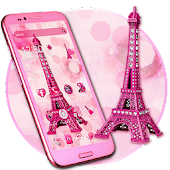 APK App Pink Diamond Eiffel Tower Theme for BB, BlackBerry