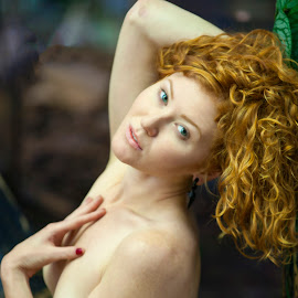 Sarah by Sandy Friedkin - Nudes & Boudoir Artistic Nude ( nude, natural  light, green eyes, red  hair, best female portraiture )