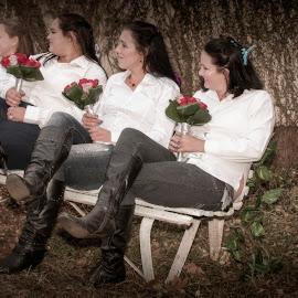 BridesMaids by Andre Oelofse - Wedding Groups ( wedding, group, flower )