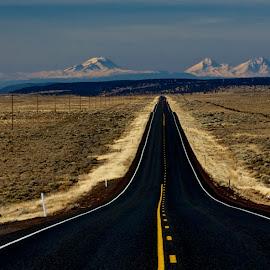 Highway to heaven by Glenn Roesener - Transportation Roads ( oregon, mountains, desert, highway, desolate, remote )