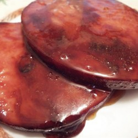 Easy Tasty Ham Steaks with Maple Glaze For 2