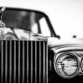 Rolls by Mark Ritter - Black & White Objects & Still Life ( car, san diego, black and white, british, automobile, royce, rolls, classic )