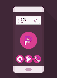 OJ Pink - Round Icon Pack- screenshot thumbnail