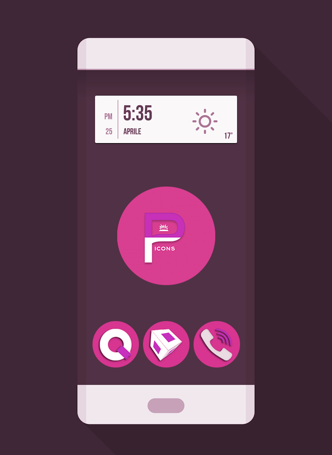 OJ Pink - Round Icon Pack Screenshot 0