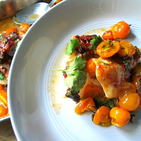 Slow Roasted Cod w/ Chermoula & Cherry Tomatoes