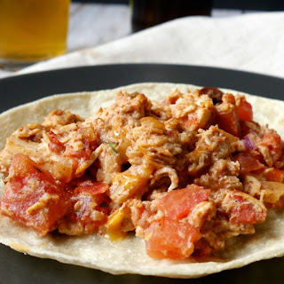 Zesty Crock Pot Shredded Chicken Tacos