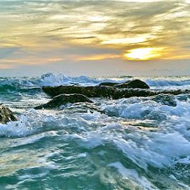{ Warm Gulf Stormy Sea's ~ 31 July }  by Jeffrey Lee - Landscapes Waterscapes ( { warm gulf stormy sea's ~ 31 july } )