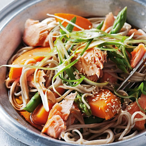 Salmon And Sweet Potato Soba Noodles