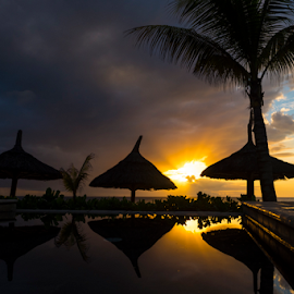 Reflection by Rich Sutherland - Landscapes Sunsets & Sunrises ( holiday, destinations, reflection, sunset, mauritius, travel, landscapes, island, relax, tranquil, relaxing, tranquility )