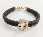 Om Ganesh 14k Gold & Certified Diamond Bracelet for Men