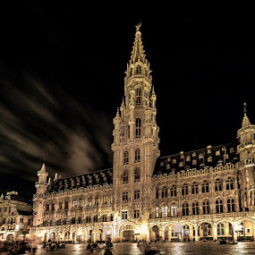 Brussels at night 2 by Wael Onsy - Buildings & Architecture Public & Historical