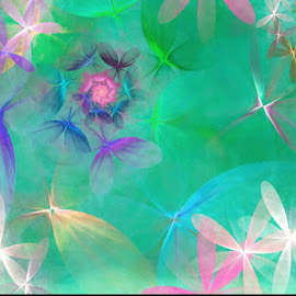 Flower Spin by Pam Amos - Illustration Abstract & Patterns ( abstract )