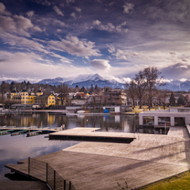 Velden...  by Griff Johnson - Instagram & Mobile Android ( velden, mountains, s7, lake, lightroom mobile, samsung, austria, galaxy )