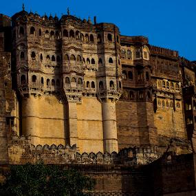 MEHRANGARH FORT by Monish Kumar - Buildings & Architecture Public & Historical ( mehrangarh, fort, jodhpur )