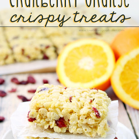 Cranberry Orange Crispy Treats