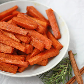 Cinnamon Rosemary Sweet Potatoes