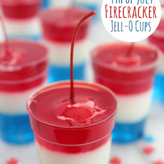 4th of July Firecracker Jell-O Cups