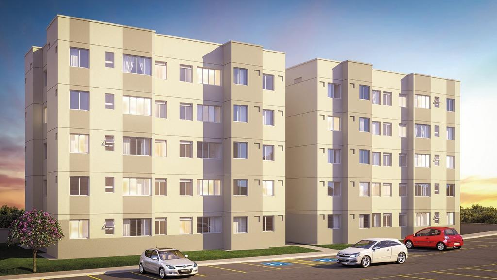 Apartamento com 2 dormitórios à venda, 41 m²  - Tribobó - São Gonçalo/RJ