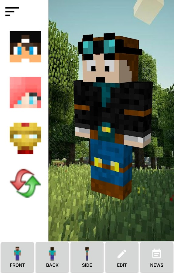 Skin Creator Minecraft Pro Screenshot 1