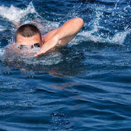 Milance by Ivan Milosevic - Sports & Fitness Swimming ( water, schwimmen, paliouri, plavo, schwimmer, greece, sea, sport, griechenland, meer, swimming, swimmer, plivac, blau, more, see, kasandra, blue, wasser, plivanje, chalkidiki, voda )