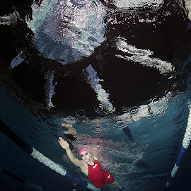 Lady in red by Adi Drnda - Sports & Fitness Swimming ( underwater, sports, swimming pool, swimming )