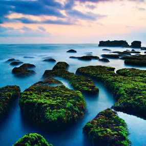Low tide at mengening beach by Theyjun Photoworks - Novices Only Landscapes ( sony, sunset, alpha, long exposure, beach, 290 )
