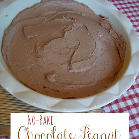 No-Bake Chocolate Peanut Butter Cheesecake {Stevia Sweetened}