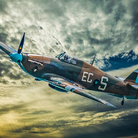 Hurricane by Anthony P Morris - Transportation Airplanes ( plane, anthony morris, britishfighter, aircraft, oxford, anthonypmorris, farmoor, battleofbritain, fighter, hurricane, airshow )