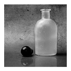 the bottle by Dirk Rosin - Artistic Objects Glass