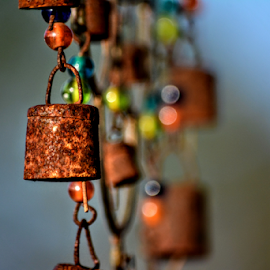 when the wind blows by Tracey Doak - Novices Only Objects & Still Life ( windchime, colors, depth of field, windchimes, rustic )