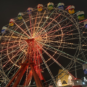 Lunapark Sydney by Richard Heersmink - City,  Street & Park  Amusement Parks ( luna park sydney, night, colours )