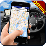 GPS World Offline Map: Live Driving Route Guide Icon