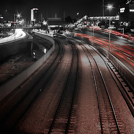 telaviv by Joel Adolfo  - Transportation Railway Tracks ( transportation, railway tracks )