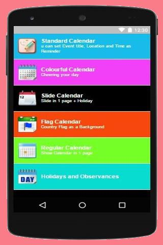 android Turkey Calendar 2016 Screenshot 1